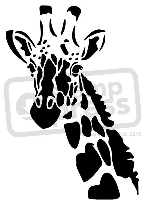 and stencils giraffe stencil a5 giraffe wall stencil template