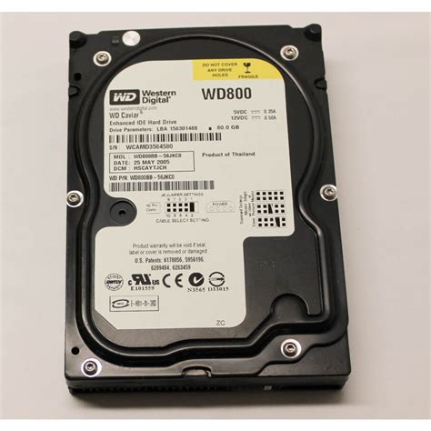 Harddisk 80gb wd800bb western digital 80gb ide 3 5 desktop drive drives laptop