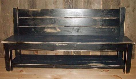 farmhouse bench with back country farm slat back bench with shelf diy crafts and