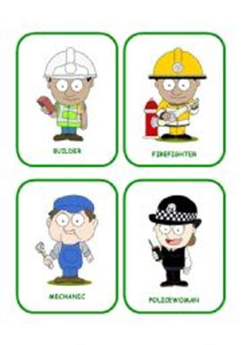 printable flash cards jobs english worksheet job flashcards