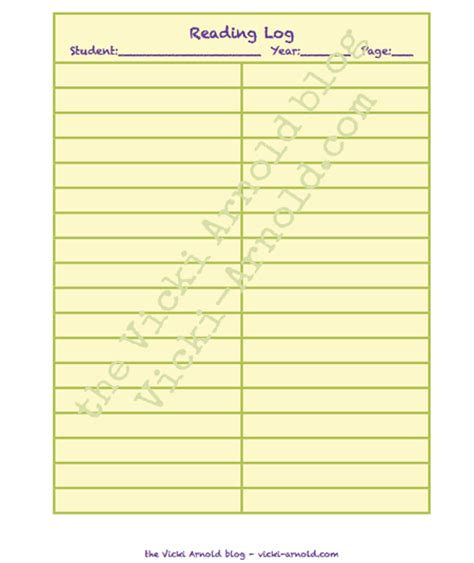 Printable Homeschool Reading Log | free printable reading logs 1000 ideas about reading