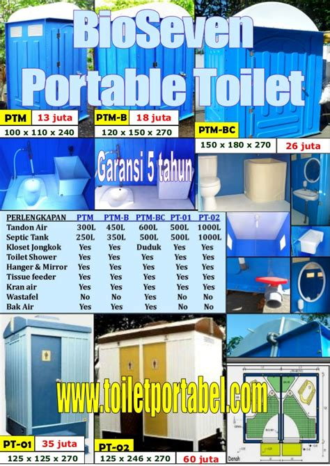 Update Harga Nefertiti Compact update daftar harga bio seven portable toilet ptm series