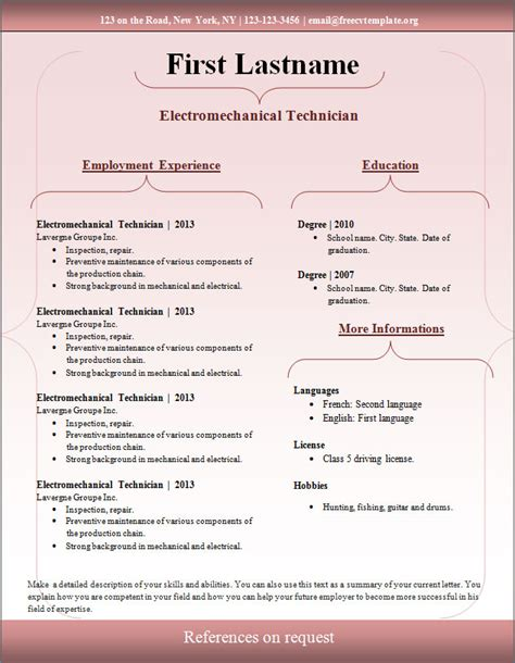 where are free resume templates 28 images sle resume 4