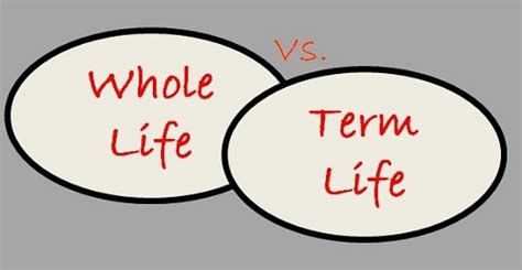 whole vs term insurance difference between whole and term insurance