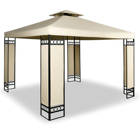 gartenpavillon 3x3 metall pavillon lorca 3x3 creme partyzelt zelt gartenpavillon