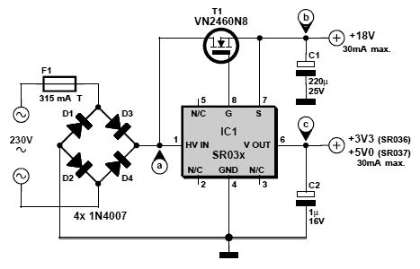 ac to dc converter schematic diagram mains ac dc converter with sr03x circuit wiring diagrams