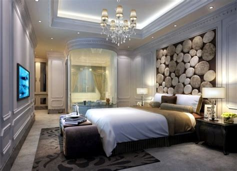 Romantic Purple Bedroom - 20 ideas for attractive wall design behind the bed in the bedroom interior design ideas ofdesign