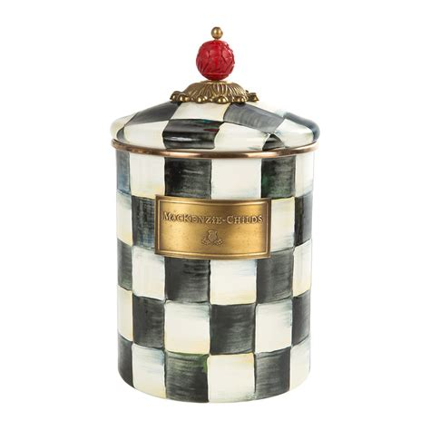 Canister Large 1 3l buy mackenzie childs courtly check enamel canister amara