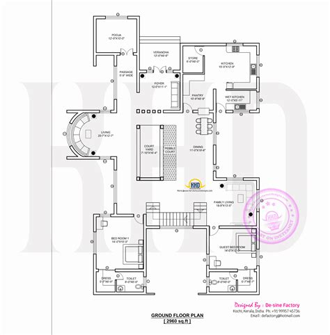 house design floor plans contemporary home plan by de sine factory kerala home