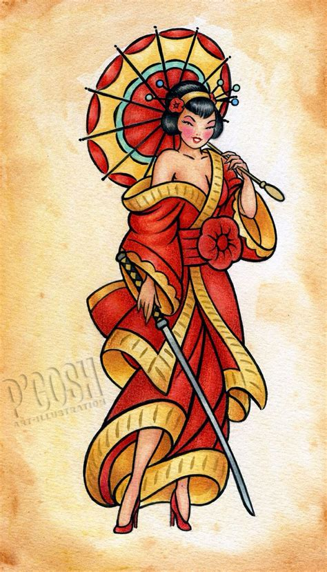 tattoo geisha pin up geisha pin up tattoo design ideas pinterest geishas