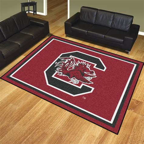 rugs sc of south carolina gamecocks area rug 8 x 10