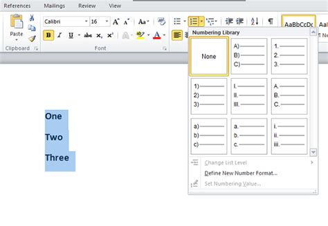 change word default template how to change the default numbered list in word