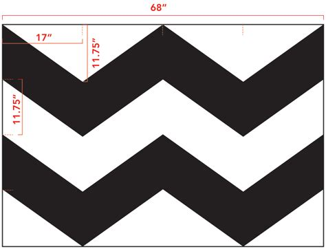 chevron template diy chevron curtain tutorial with template