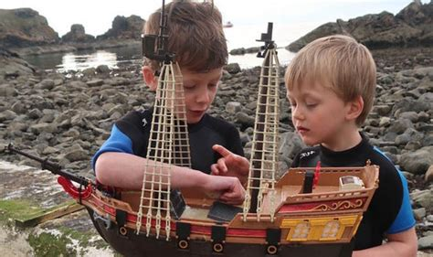 toy boat sails to norway toy pirate ship sails from peterhead to denmark uk