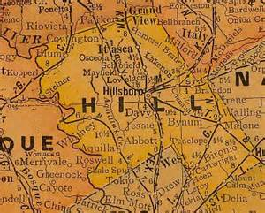 map of hill county