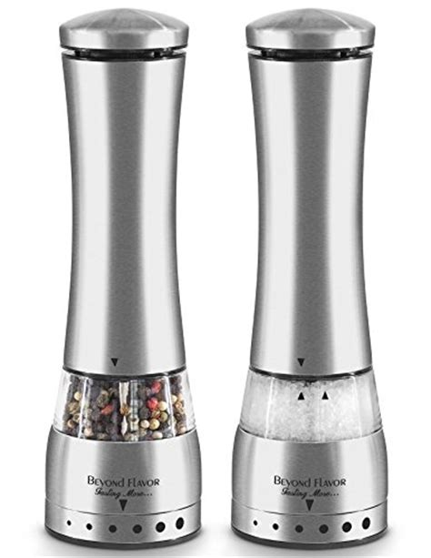 electric salt pepper mill grinder with light galleon electric salt pepper grinder set by beyond