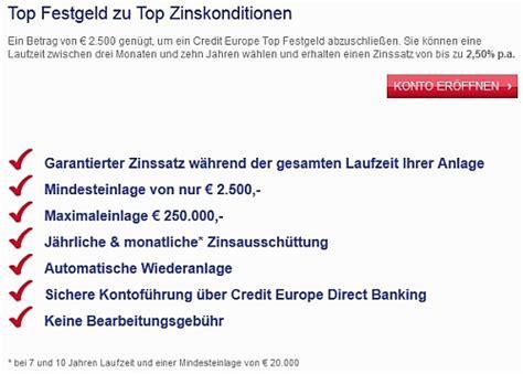 europe credit bank festgeld credit europe bank festgeld bank aktuell