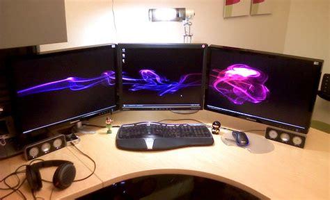 best corner desk for 3 monitors 1 monitor mount