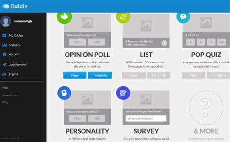 free website to create unlimited polls surveys quizzes