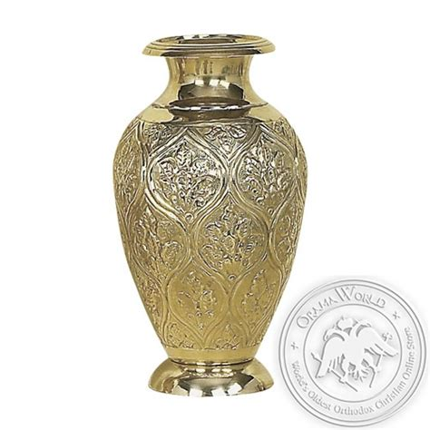 Brass Flower Vases by Byzantine Brass Flower Vase Oramaworld