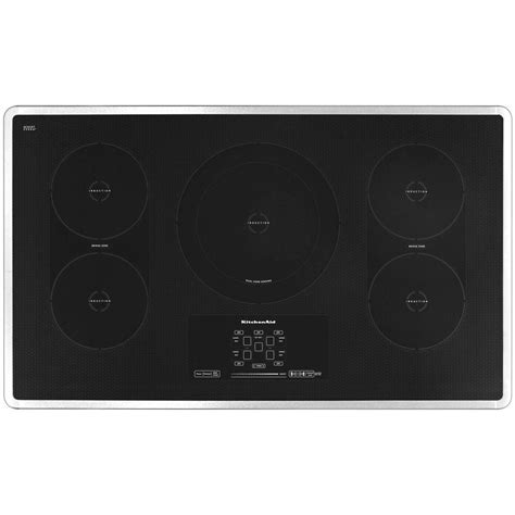 kitchenaid ds induction kitchenaid architect series ii 36 in smooth surface induction cooktop in stainless steel with 5