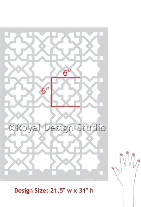moroccan pattern wall stencil moroccan wall furniture stencils tangier lattice
