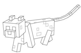 dibujo ocelote minecraft colorear dibujos colorear imprimir gratis