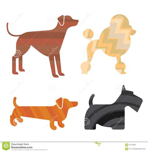 set of puppy set of silhouettes stock vector image 57111887