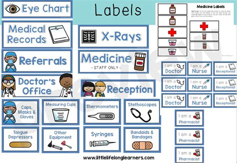 Doctor Dramatic Play Printables doctor themed dramatic play printables lifelong
