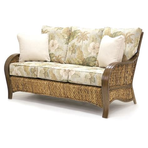 tropical couch woven sofa maui collection by sea winds trading