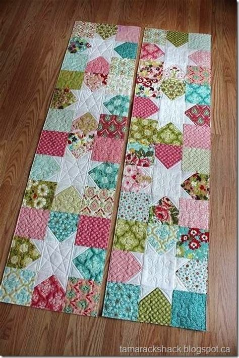 construct 2 runner tutorial scrappy 9 patch table runner quilted table runners made with charm packs no pattern