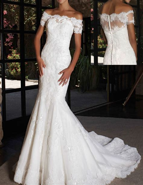 Wst 7760 One Sleeve Mermaid Maxi Dress white ivory lace mermaid zipper sleeve boat neck sheath gown lace mermaid