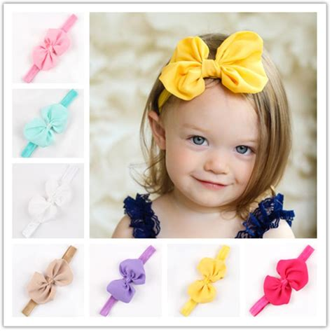Ribbon Baby Headband new 2015 bow baby headband child elastic ribbon hairband headbands 52 selling 10