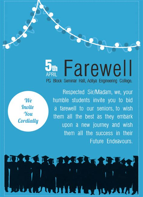 farewell templates free sle farewell invitation template 8