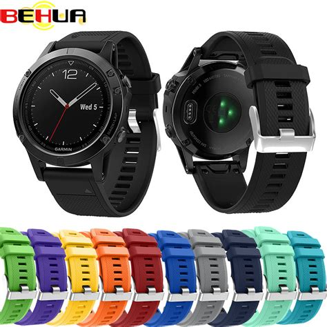 Smartwatch Garmin Fenix 5s Bracelet Silicon Rubber Wrist Band aliexpress buy 12 colors soft silicone replacement wristband band bracelet for