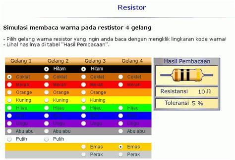 baca resistor 5 gelang elvi simulasi membaca warna gelang pada resistor