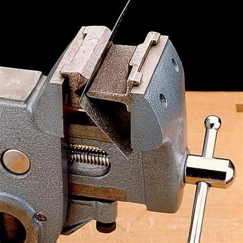 Kitchen Utility Knives by Veritas Modeler S Metal Bender Converts Any Vise Into A