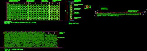 jardin vertical detalles en autocad cad  kb