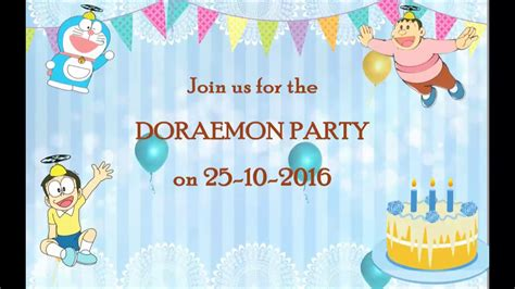 doraemon birthday card template birthday invitation app gallery invitation sle and