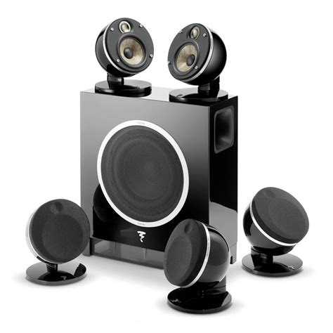 focal dome 5 1 and sub air flax theater system black open