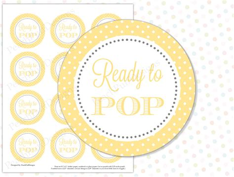 yellow printable stickers ready to pop sticker yellow instant download ready to pop