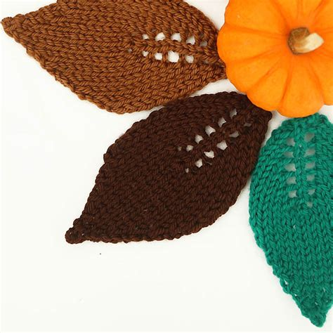 how to knit a leaf shape easy leaf free knitting pattern michele