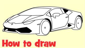 How To Draw A Lamborghini Easy How To Draw A Car Lamborghini Huracan