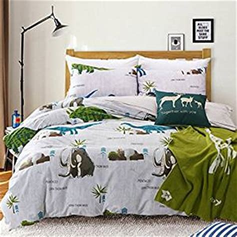 dinosaur bedding queen amazon com maxyoyo simple cartoon dinosaur duvet cover
