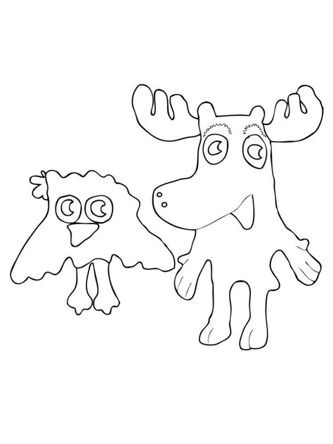 Free Printable Moose Coloring Pages For Kids Moose Colouring Pages