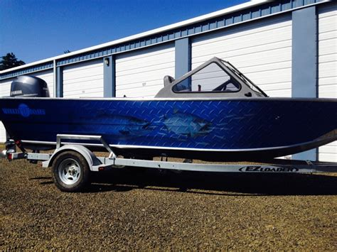 vinyl wrap on boat coho design makes boat graphics and custom vinyl boat wraps