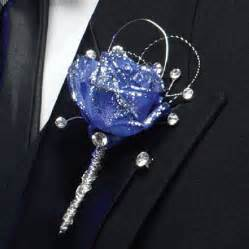 blue boutonniere blue boutonnieres for proms or weddings