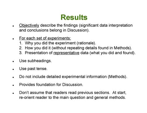 when did section 8 start how to write a scientific manuscript michael terns