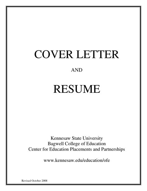 Cover Page Template For Resume by Basic Cover Letter For A Resume