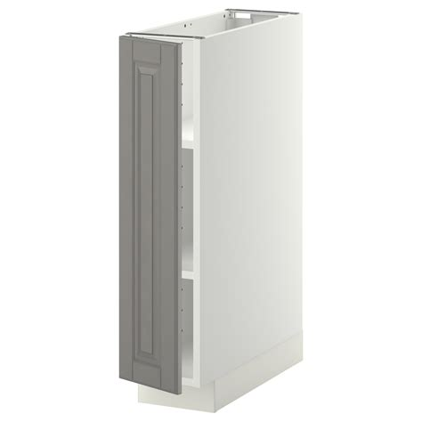 ikea cabinet shelf metod base cabinet with shelves white bodbyn grey 20x60 cm